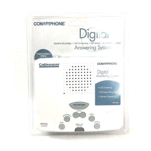 ConAir Phone Digital Answering System Machine TD1220WCS White Tapeless Screening