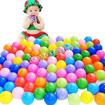 1000 pcs Baby Kid Pit Toy Game Swim Pool Soft Plastic Ocean Ball 5.5cm US Stock
