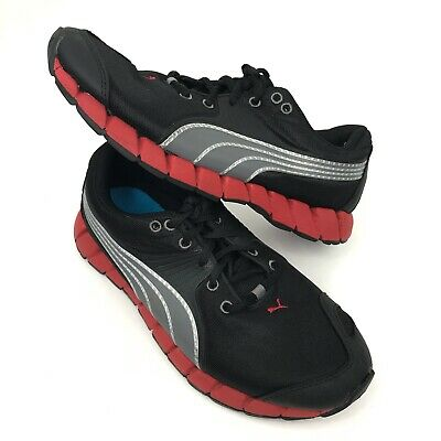 Puma Running Shoes Men's Size 5 Black & Red Lite Weight Sport Lifestyle Athletic