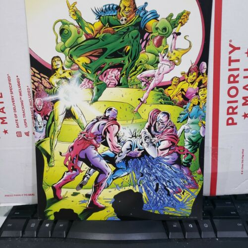 Warriors of Plasm # 0 Binder Rare mail-away Back cover art Print (Defiant)