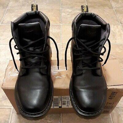 Dr Martens Cartor Black Combat Boots Vegan Faux Leather Size 11 EXCELLENT