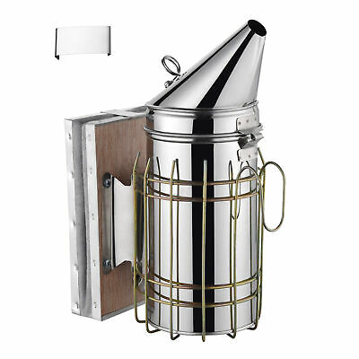 11 Bee Hive Smoker Stainless Steel W Heat Shield Calming Beekeeping Equipment