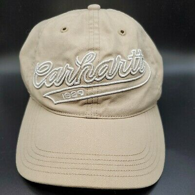 Carhartt Heritage Logo Fitted Khaki Tan Hat Cap Embroidered FREE SHIPPING