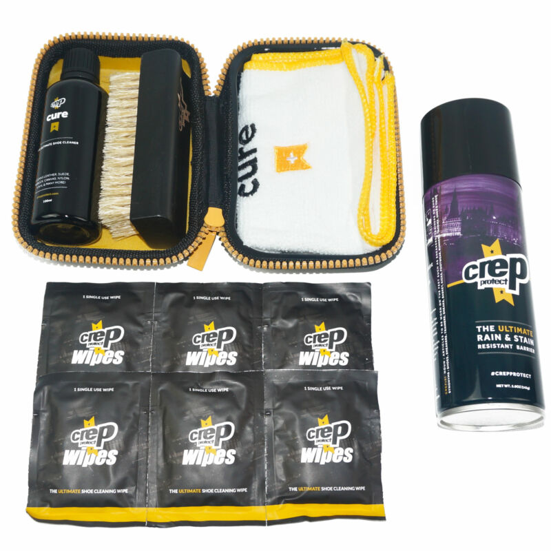 CREP PROTECT Rain and Stain Cure Travel Kit Brush Wipes Micro Fiber Towel NEW