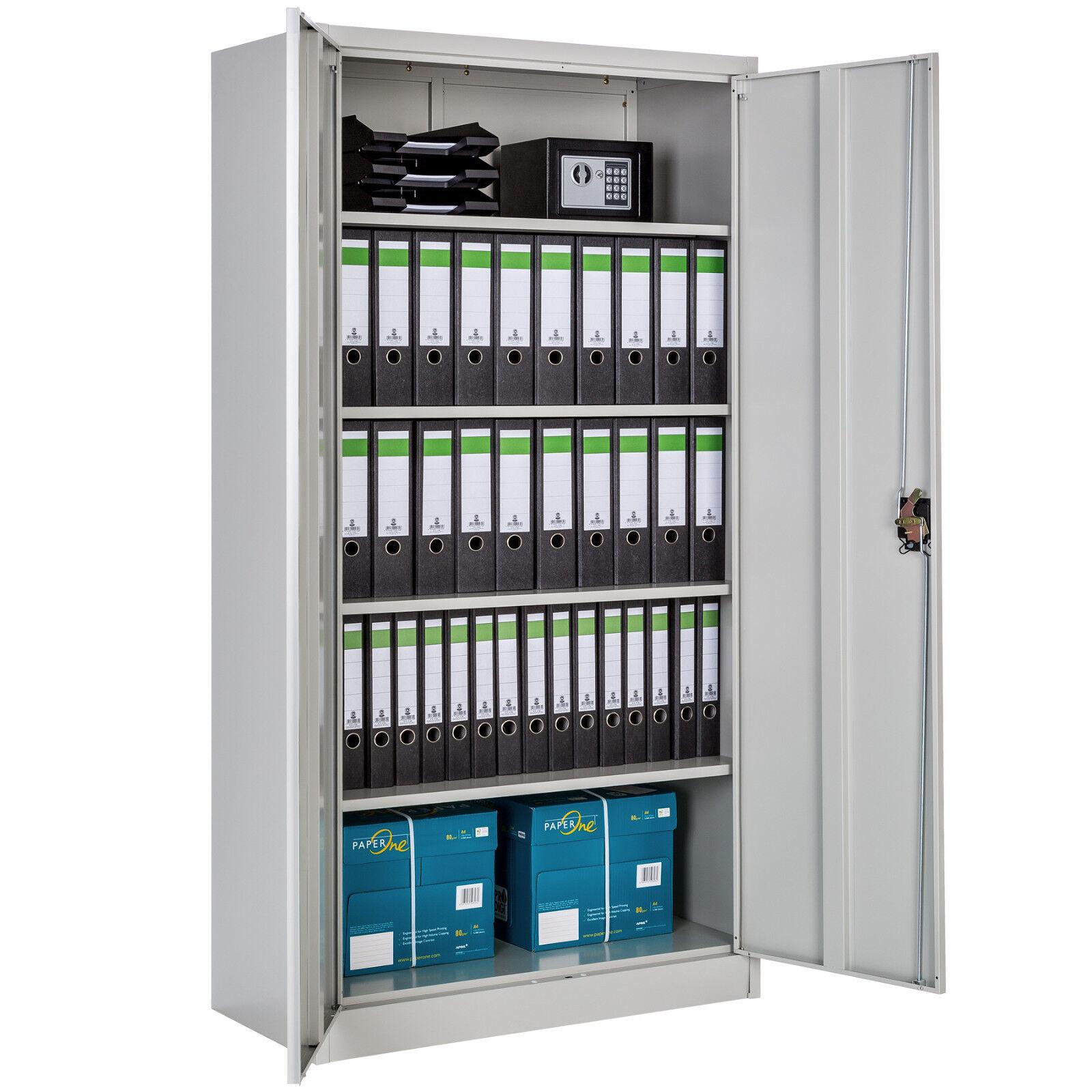 Aktenschrank Büroschrank Metallschrank Stahlschrank Lagerschrank Materialschrank Höhe: 180 cm | 402483