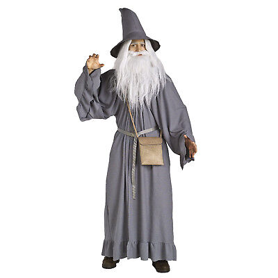 Lord of the Rings Hobbit Gandalf Costume wizard CLOAK adult Robe and Pouch Grey (Lotr Costumes)