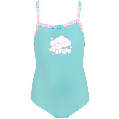 Speedo Mädchen Cosmic Wolken Essential Schwimmen One Piece Badeanzug (Schwimmen Kostüm Mädchen Speedo)