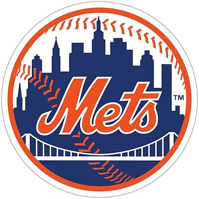 Mets Plastic Tumblers - New York Mets MLB Color Vinyl Decal / Sticker - You Choose Size 2