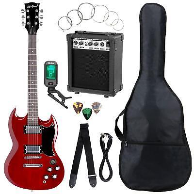 Double Cut Guitarra eléctrica Pack Con Amplificador Cuerdas Bolsa Cable Triante