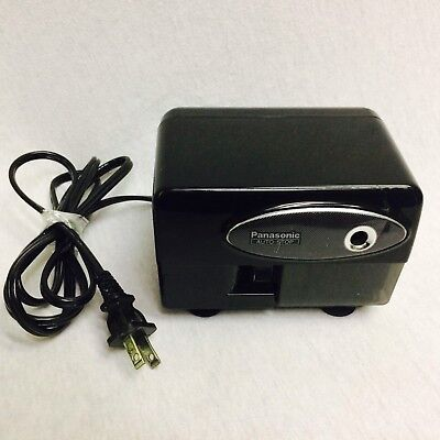 Panasonic Auto Stop Electric Pencil Sharpener Model Kp-310 Black Tested