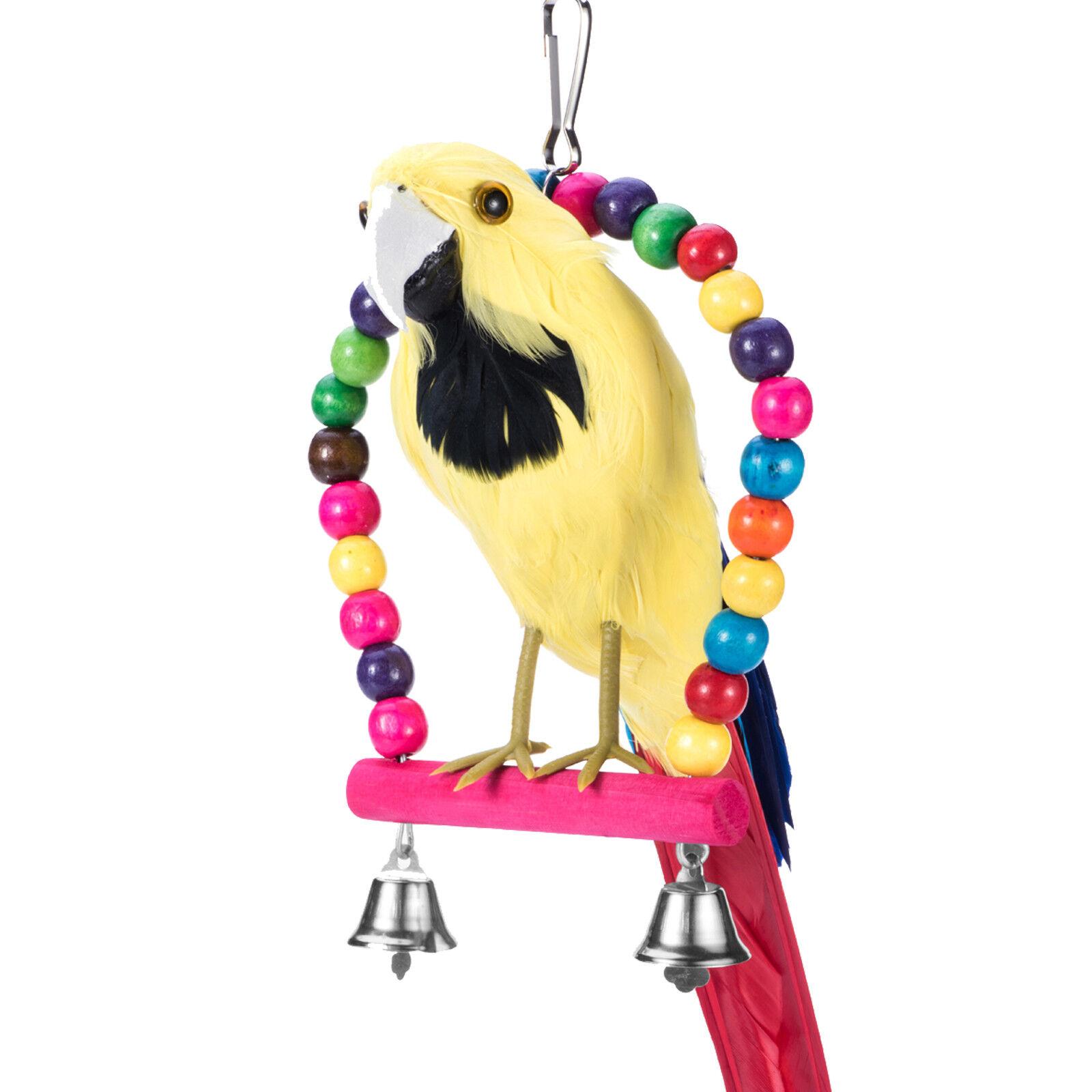 Pet Bird Swing Parrot Parakeet Budgie Cockatiel Cage Hammock Toys Hanging Toy Bird Supplies