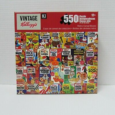 Vintage Kellogg's Puzzle - Retro Cereal Boxes - 550 pieces - NEW sealed