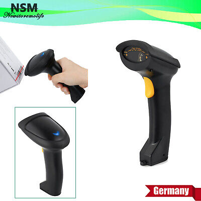 Laser Barcode Scanner Handscanner Laser scanner für Supermarket mit USB Kabel DE