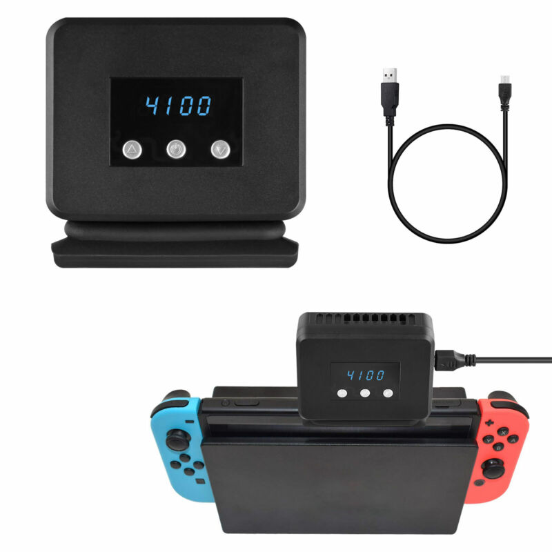 Radiator Base Cooling Fan with Temperature Display for Nintendo Switch Heat Sink
