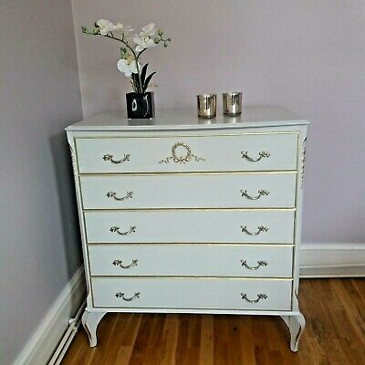 French Louis Style Olympus Chest of Drawers Vintage Armoire Antique furniture