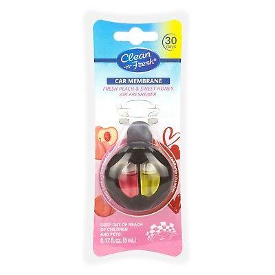 Clean-n-Fresh Car Vent Clip Air Freshener Double Clips Fresh Peach & Sweet Honey (Fresh Air Vent)