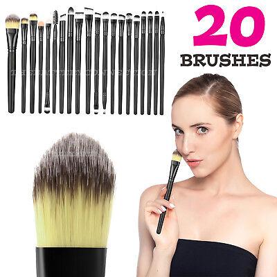 (20pcs Makeup BRUSHES Kit Set Powder Foundation Eyeshadow Eyeliner Lip Brush NEW)