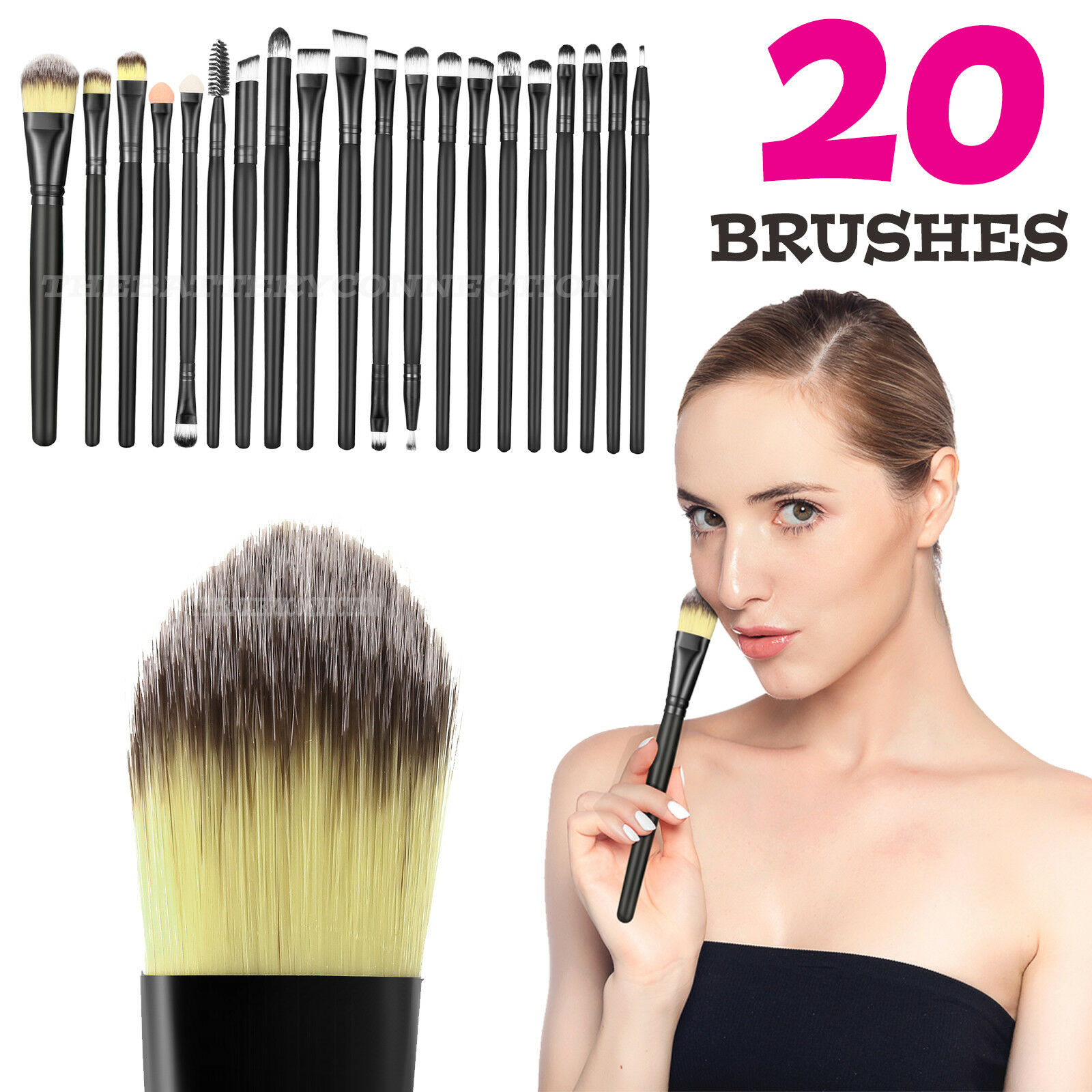 20pcs Makeup BRUSHES Kit Set Powder Foundation Eyeshadow Eyeliner Lip Brush NEW Brushes