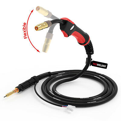Mig Welding Torch Flexible Head 100a 10ft Replace Hobart Handler 135140175180