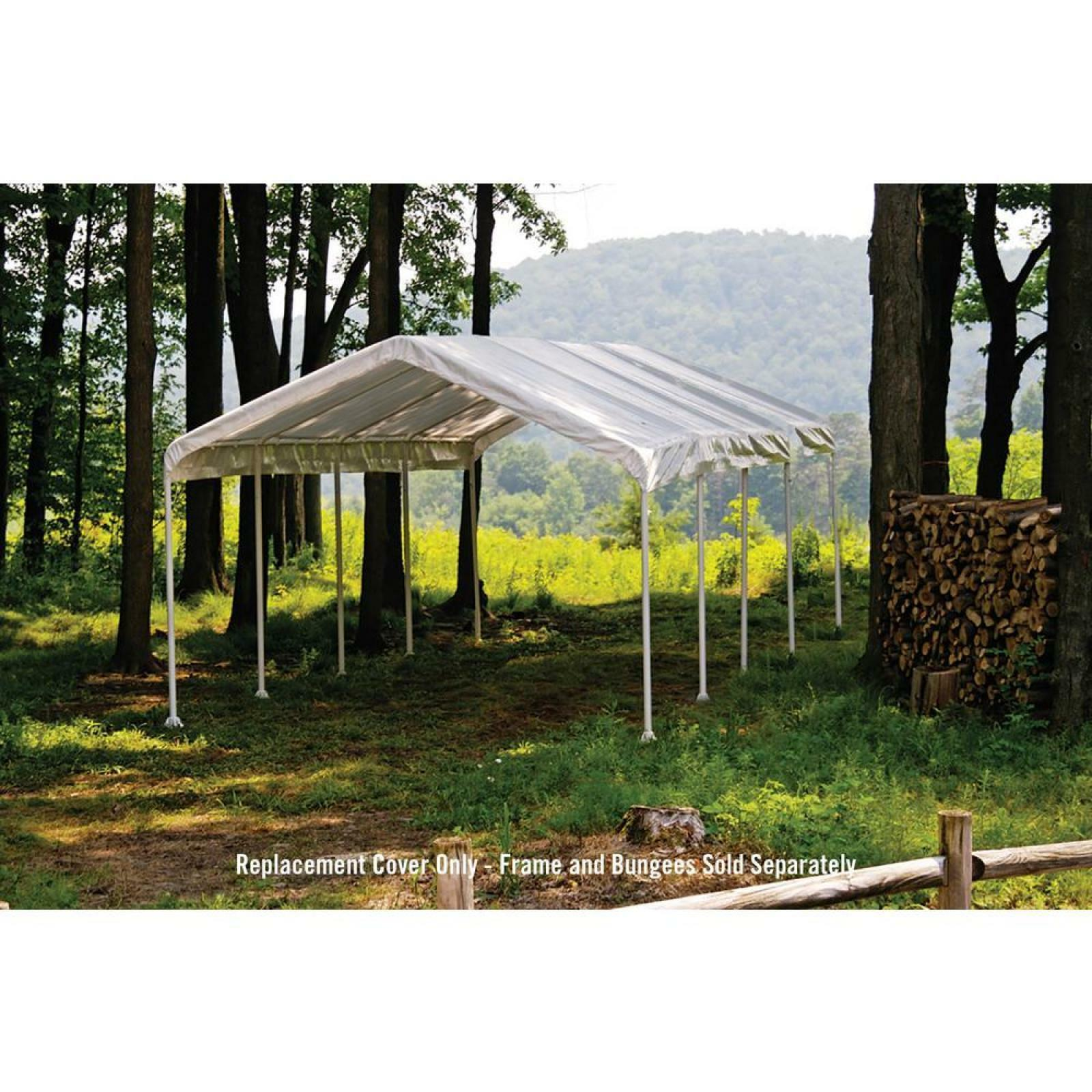 Shelterlogic Super Max 12 X 26 Ft Canopy Replacement Cover Waterproof White 677599100598 Ebay