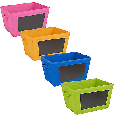 Foldable Collapsible Fabric Canvas Storage Shelf Organiser Bedroom Drawer Box