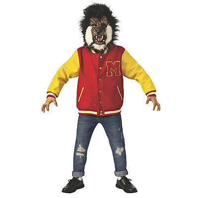 Child Boy's Michael Jackson Thriller Halloween Costume Varsity Jacket Wolf - Michael Jackson Halloween Costume Kids