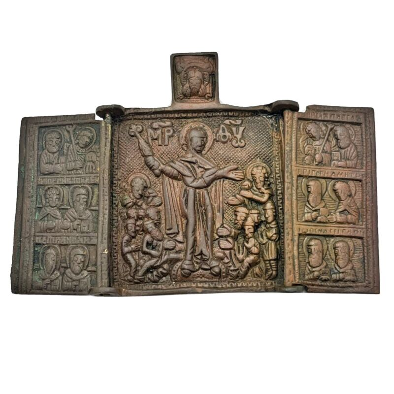 Medieval European Orthodox Christian Icon Artifact Antiquity - Ca 1500-1700 A.D.