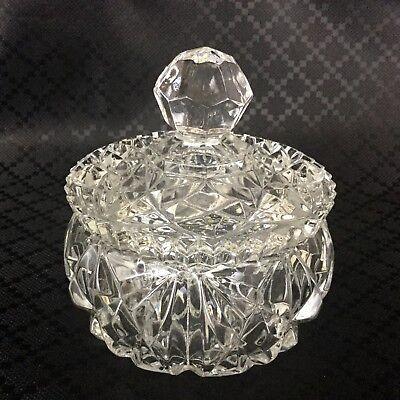 Glas Schmuckkästchen mit Deckel Topf Candy Nuss Schale Krug (Candy Nuss-schalen)