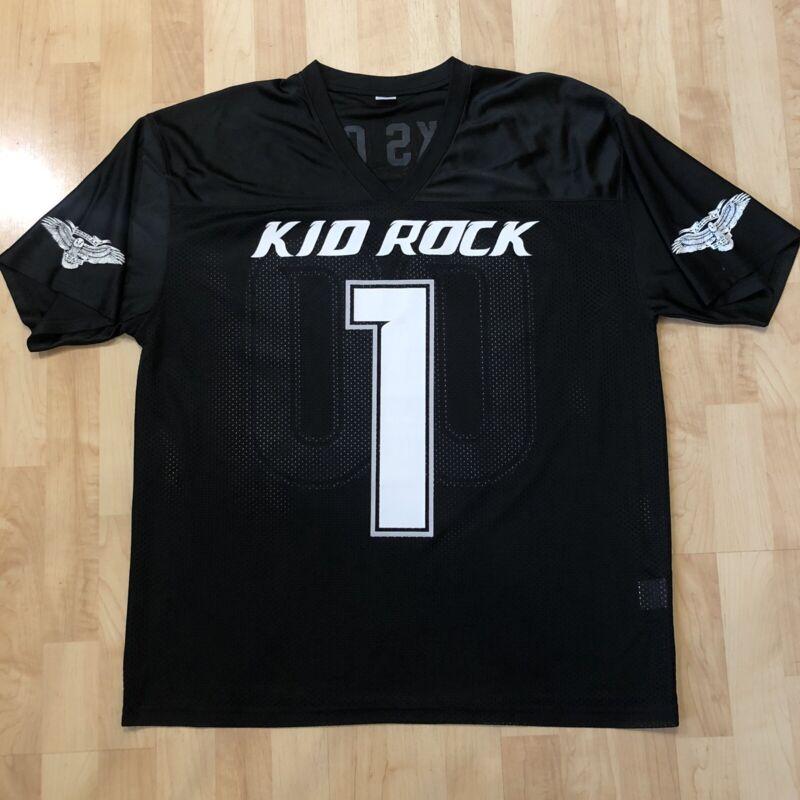 Vintage 2000 KID ROCK #1 American Badass 00 F**KS GIVEN TOUR Jersey Size XL