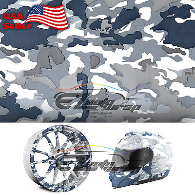 19x38 Hydrographic Film Hydro Dipping Water Transfer Snow Camo Camouflage 8