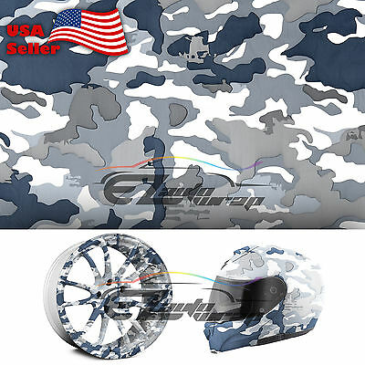 19x38 Hydrographic Film Hydro Dipping Water Transfer Snow Camo Camouflage 08