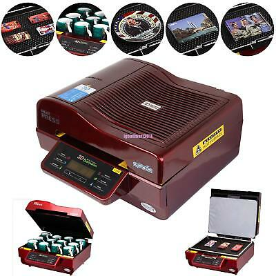 3d Vacuum Sublimation Heat Press Machine Transfer Phone Cases Mugs Cups Printer