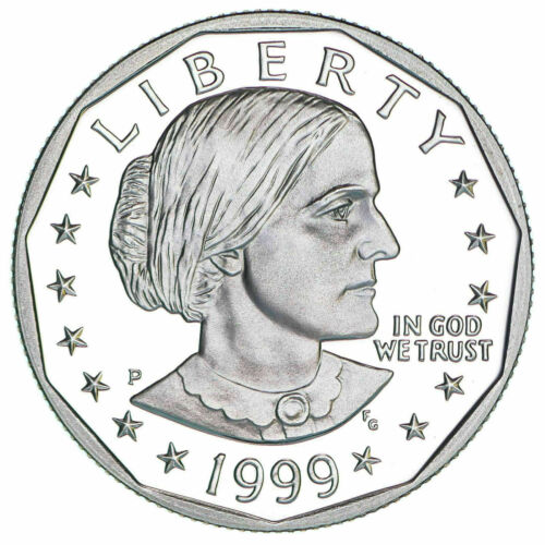 1999-P Susan B Anthony Dollar Proof Last Year US Mint Box & COA Low Mintage