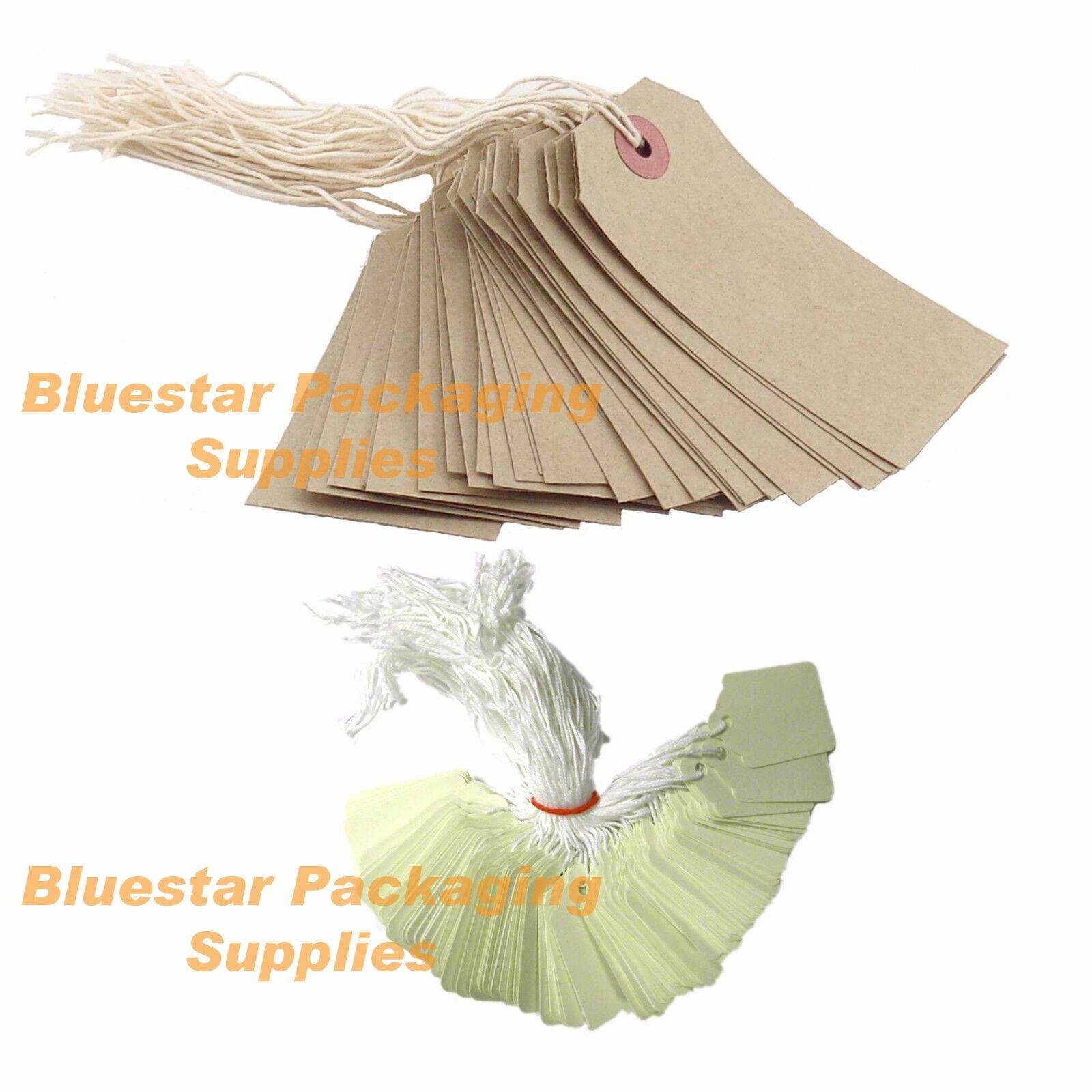 5000 x Quality Strung Brown Price Tags 70mm x 35mm