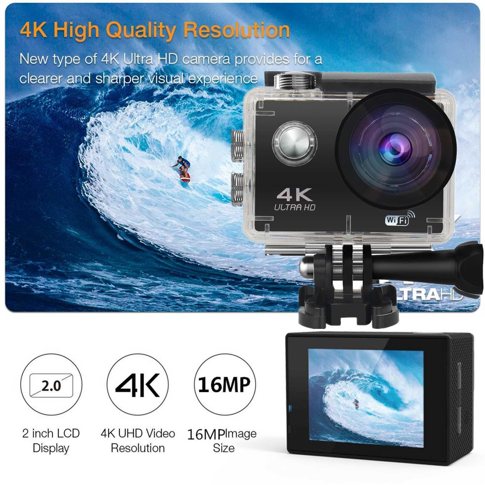 Pro 4K Action Camera WiFi Camcorder Ultra HD Camera Waterpro