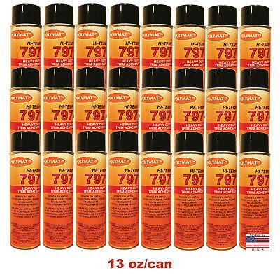 Qty24 Polymat 797 Hi-temp Spray Can Glue Adhesive Bonds Flexible Foam To Fabric