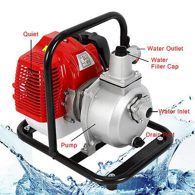 2 Stroke Petrol Gas Powered Water Pump Water Transfer Pump Irrigation Portable