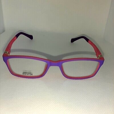 FLEXIBLE KIDS EYEGLASSES IN PLASTIC 45X16**pink and (Purple Plastic Glasses)