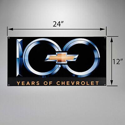 2012 Corvette Centennial Edition 100th Anniversary Heavy Gauge 24x12 Metal Sign