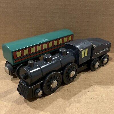 BRIO Polar Express Wooden Train Set Coal Tender Passenger Car Coach Thomas Used