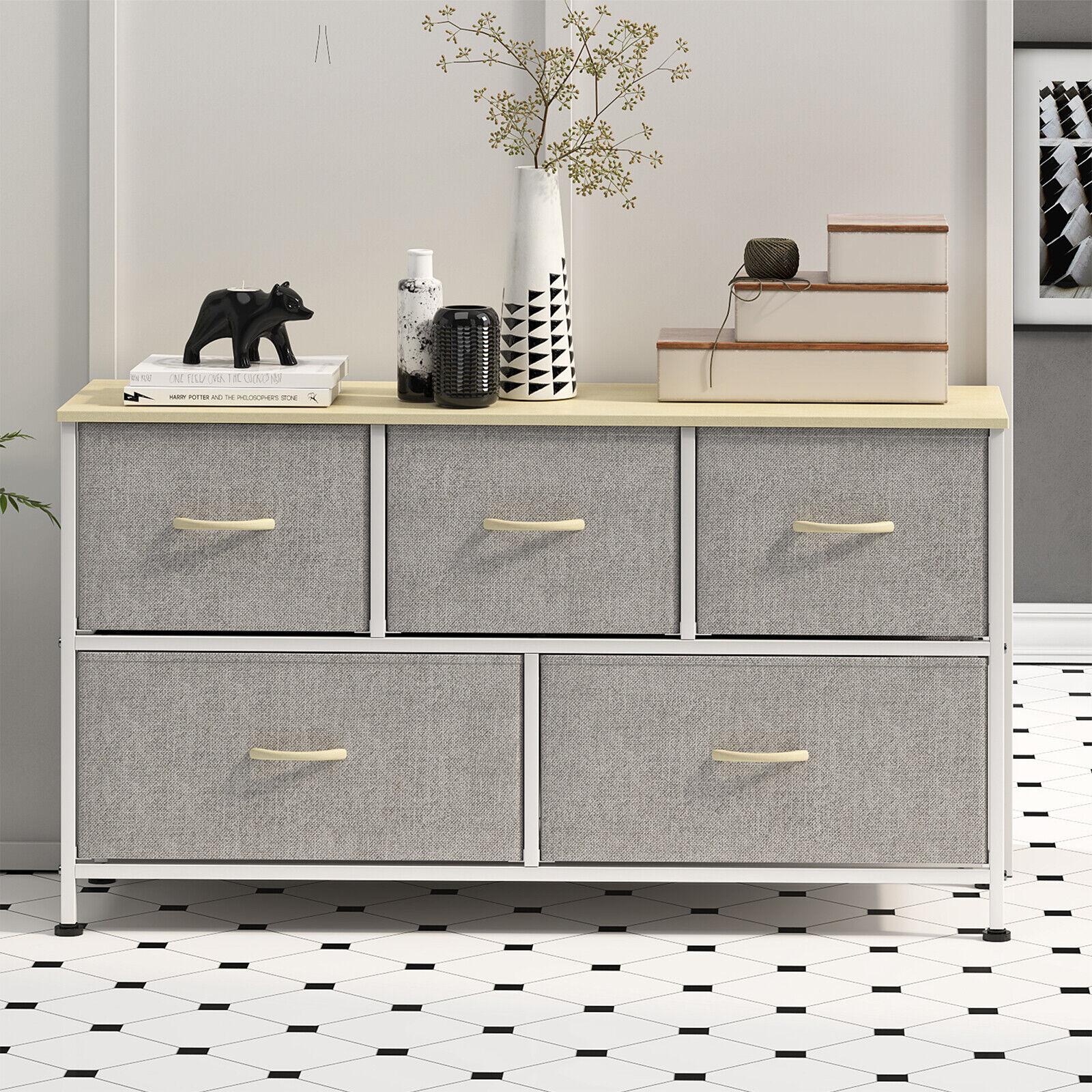 5 drawers modern dresser chest of drawers