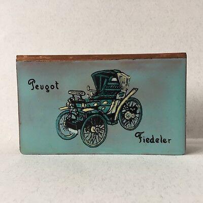 Vintage Copper Painted Large Match Box Holder