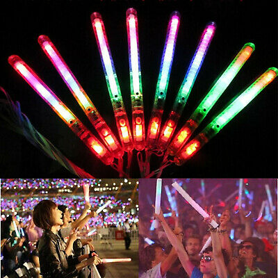 30PCS LED Glow Flashing Wand Rainbow Light Up Sticks Party Concert Prom - Led Glowstick