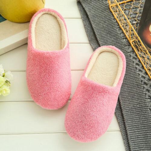 Unisex Anti-Slip Winter Warm Hausschuhe Samt Velvet Shoes Slippers Sandals Mode