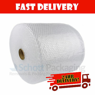 BUBBLE WRAP ROLLS - 750mm X 100M SMALL BUBBLE + NEXT DAY 24HR DELIVERY