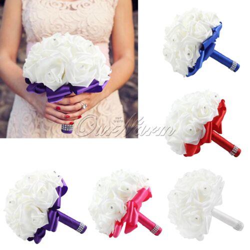 New Wedding Dec Bridal Bouquet Rose Silk ...