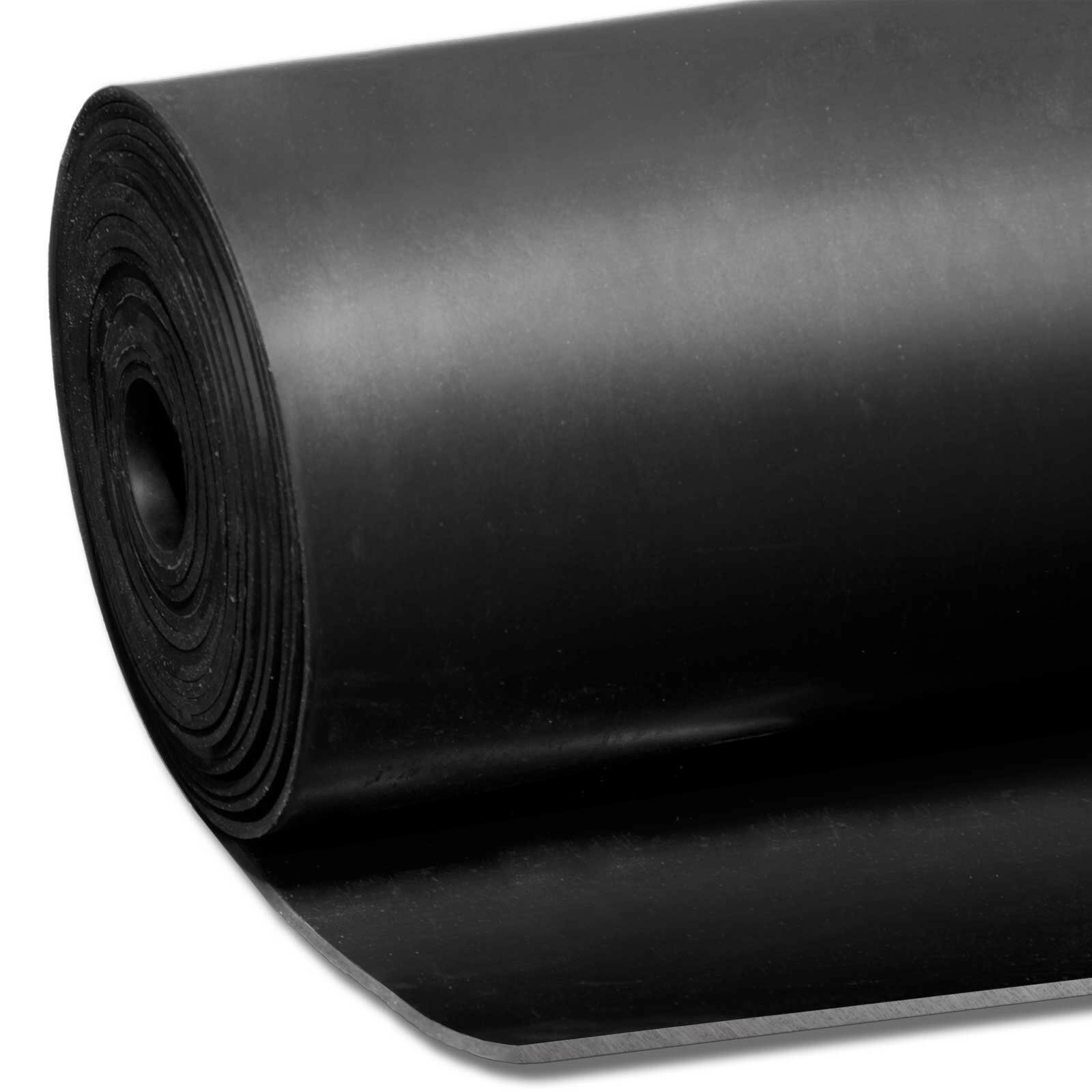 Car Parts - Smooth Matt Black Rubber Flooring Matting for Garage, Van or Car Roll Mat
