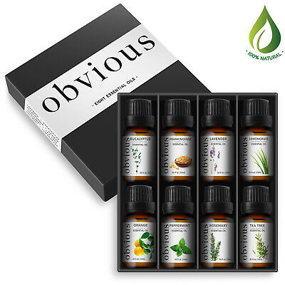10 Ml Sampler - Top 8 Pure Essential Oils Sampler Set Therapeutic Grade Aromatherapy (10ml each)