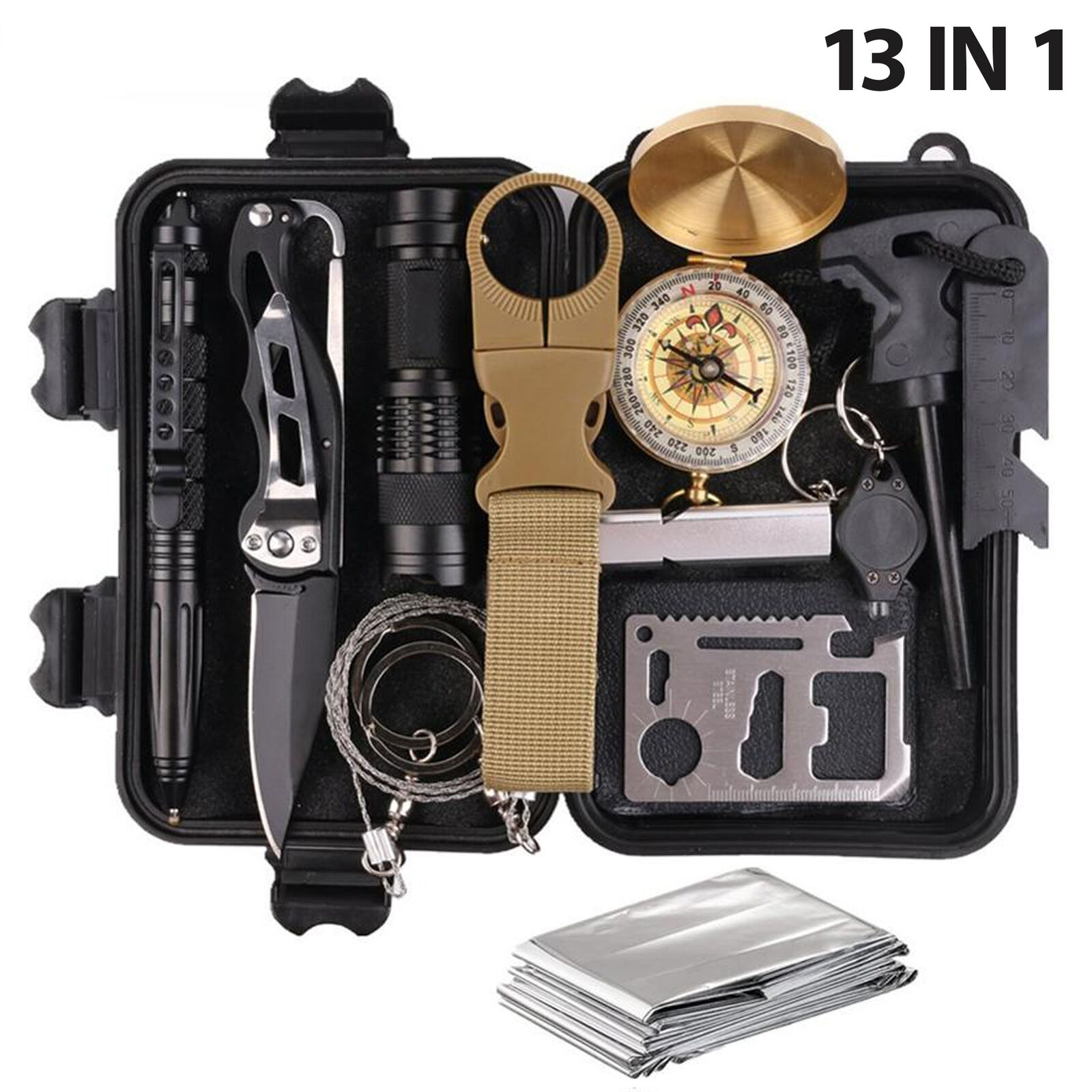 Survival Kit Emergency Tools Military Camping Tactical Outdo