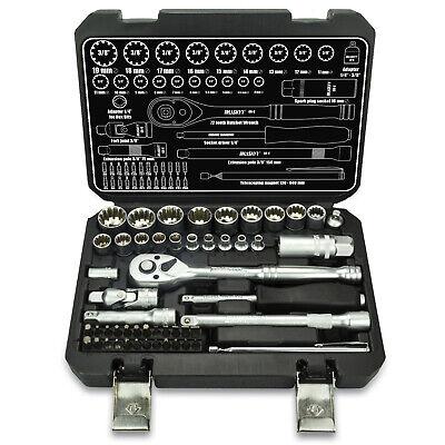 52tlg TORX Gear Lock Ratschenkasten Set 6- 12- Kant  (1/4&3/8)  Nuss Bits 4-19mm
